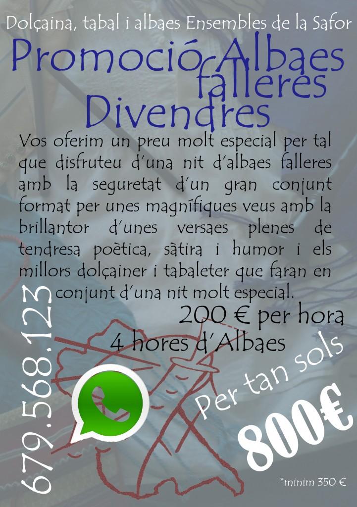Promoció Albaes Falleres